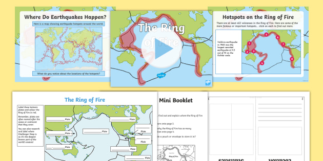 KS2 The Ring of Fire PowerPoint and Activity Pack - Pacific, Tectonic
