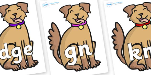 Silent Letters on Dog - Silent Letters, silent letter, letter blend, consonant, consonants, digraph, trigraph, A-Z letters, literacy, alphabet, letters, alternative sounds
