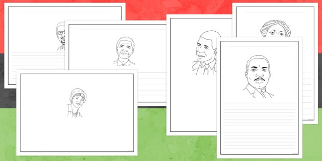 Black History Month Writing Frames - black history month, writing frames, significant individuals