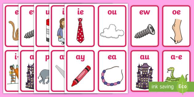Phase 5 Flash Cards - card, literacy, visual, aid, visuals, sound