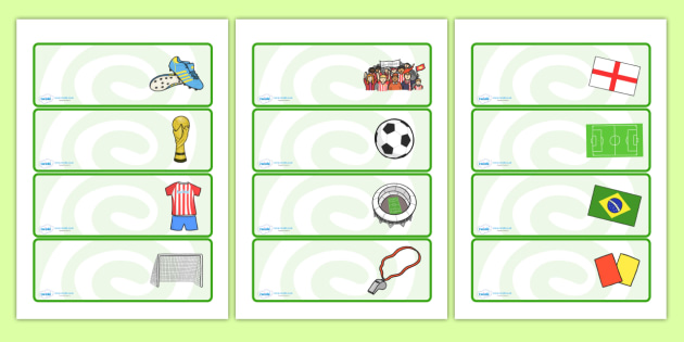 Editable Football Themed Drawer, Peg, Name Labels - Editable