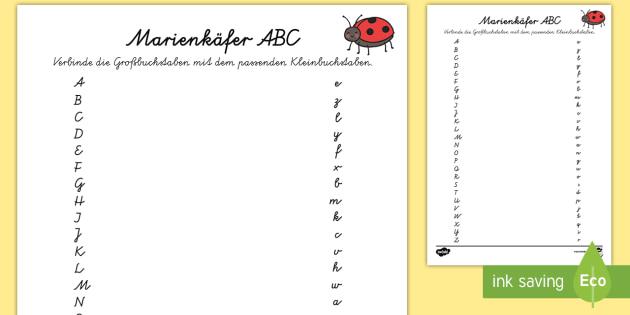 Marienkäfer ABC Arbeitsblatt