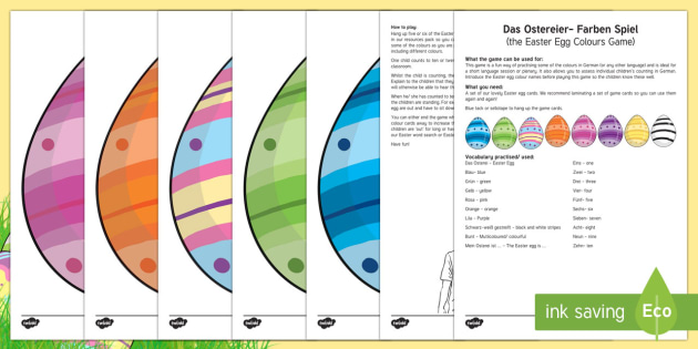 Egg Colours Game - Carnival and Spring, colours, game