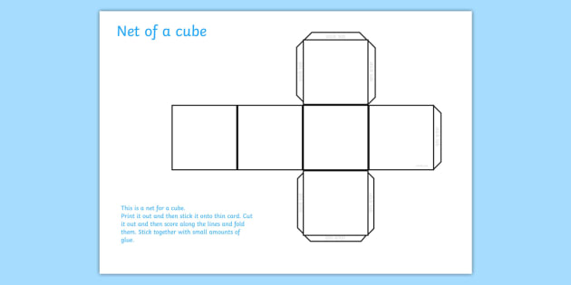 Cube Net  Cube Shapes Shape Net Cube Shape Net Maths Dice