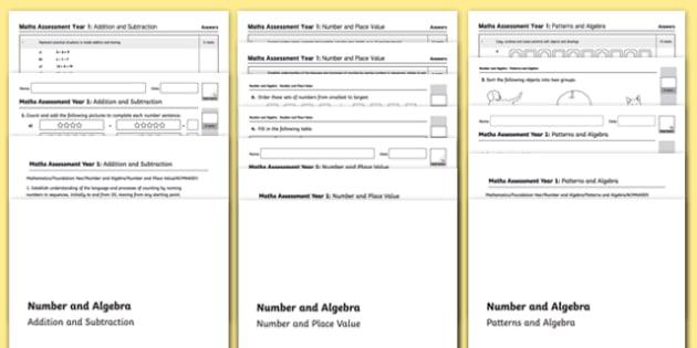 Kindergarten Number and Algebra Assessment Pack - australia, kindergarten, number, algebra, assessment