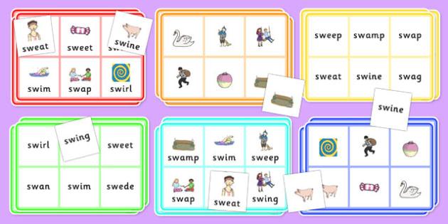 SW Bingo - sw sound, bingo, activity, game, class, sound, sen