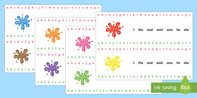 Splat Alphabet Strips - splat, alphabet, strips, alphabet strips