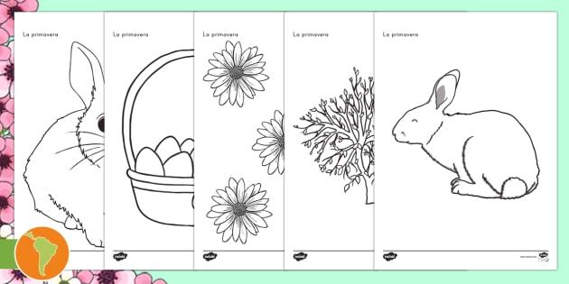 NEW * Hojas de colorear: Primavera - primavera,colorear