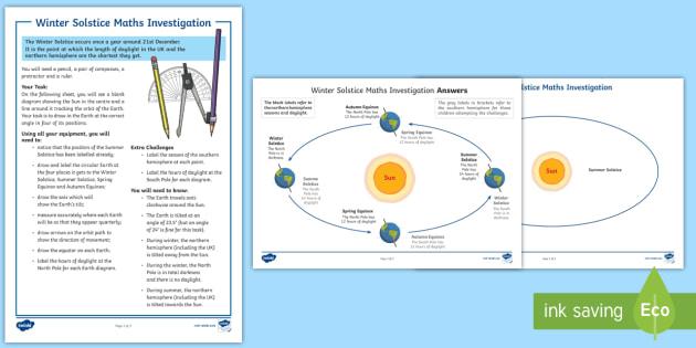 ks2 winter solstice maths investigation worksheet activity. Black Bedroom Furniture Sets. Home Design Ideas