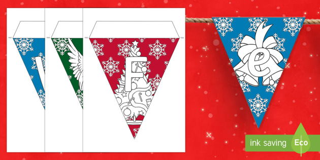 Colour your Own 'Frohe Weihnachten' Display Bunting-German - Christmas, German, Weihnachten,German
