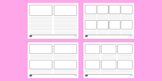 graphic about Storyboard Template Printable known as Blank Storyboard Templates