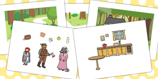 Little Red Riding Hood Story Cut-Outs - Little, Red, Riding, Hood