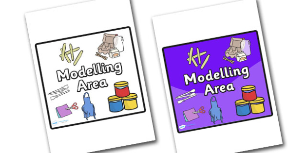 Modelling Area Sign - sign, display sign, area display sign, area sign, area, modelling area display sign, modelling sign, modelling area, modelling classroom area, classroom areas, school areas, classroom area signs, topic signs, topic area signs