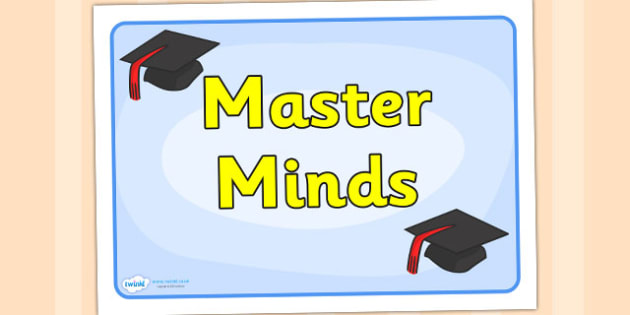 Master Minds Group Sign - signs, labels, class sign, master mind