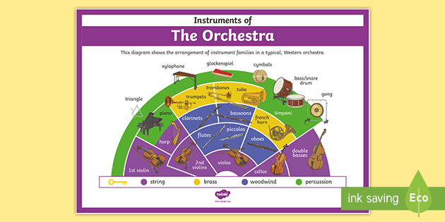Instruments of the Orchestra Poster (teacher made)