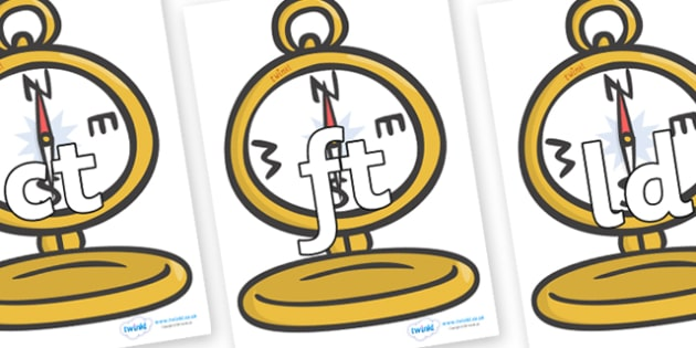 Final Letter Blends on Pocket Watches - Final Letters, final letter, letter blend, letter blends, consonant, consonants, digraph, trigraph, literacy, alphabet, letters, foundation stage literacy