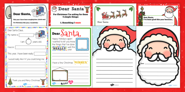 Letter To Santa Resource Pack Letter Santa Resource Pack