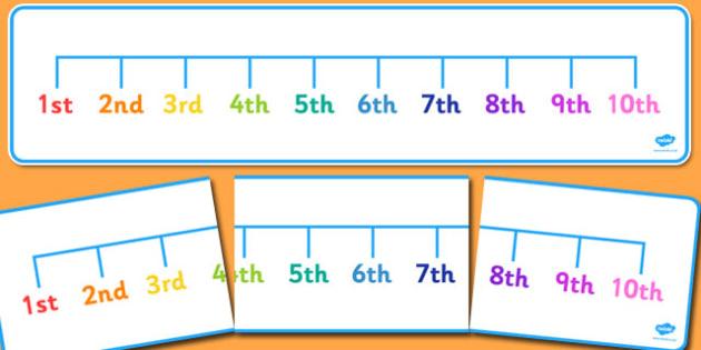 Ordinal Number Line 1st to 10th - ordinal number, number line, 1st, 10th