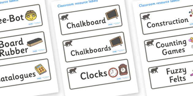 Panther Themed Editable Additional Classroom Resource Labels - Themed Label template, Resource Label, Name Labels, Editable Labels, Drawer Labels, KS1 Labels, Foundation Labels, Foundation Stage Labels, Teaching Labels, Resource Labels, Tray Labels,