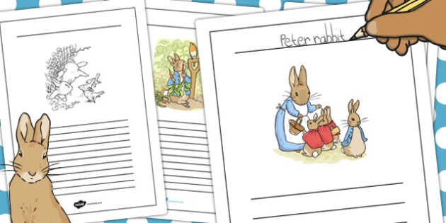 The Tale of Peter Rabbit Writing Frames - peter, rabbit, write