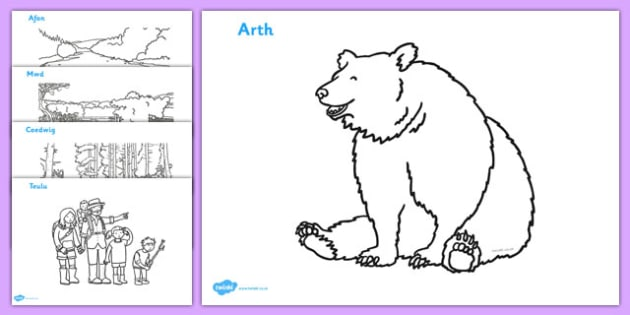 bear hunt coloring pages - photo#5