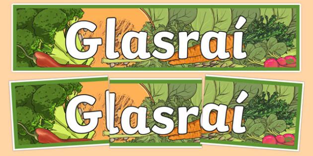 Bia Food Display Banner Glasrai - bia, food, irish, gaeilge, display, banners, food types