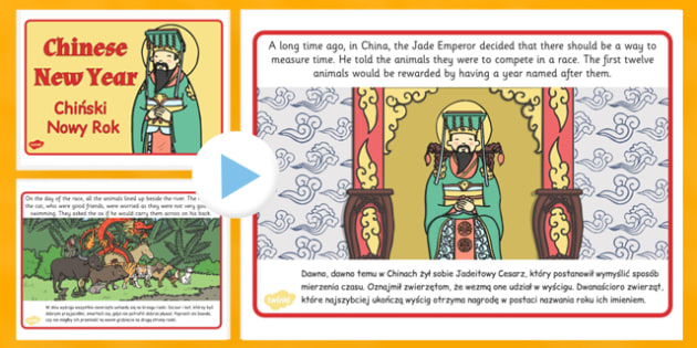 Chinese New Year Story PowerPoint Polish Translation - polish, chinese new year, story, powerpoint