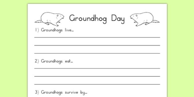 Groundhog Facts Worksheet - groundhog day, groundhog, tradition, celebration, facts