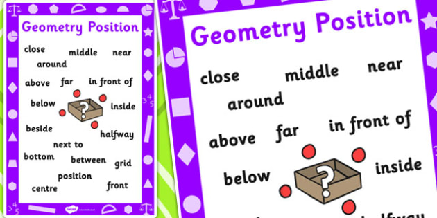 Key Stage 1 Geometry Position Poster - Geometry, position, Poster