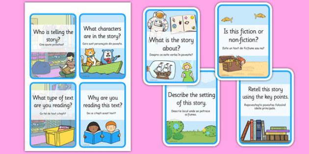 Reading Comprehension Cards Romanian Translation - read, Romania