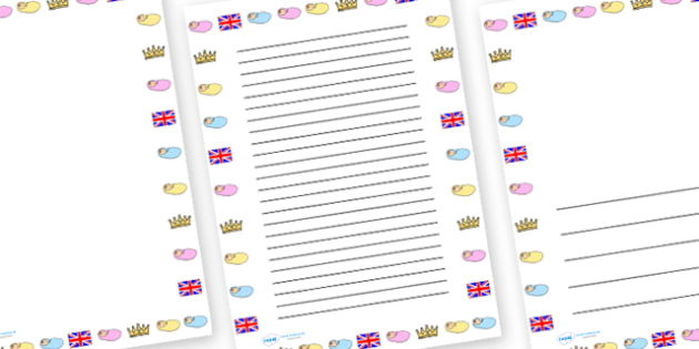 Royal Baby Page Borders - royal baby, kate middletons baby, prince williams baby, royal family, new baby, new royal baby, kate middleton and prince william