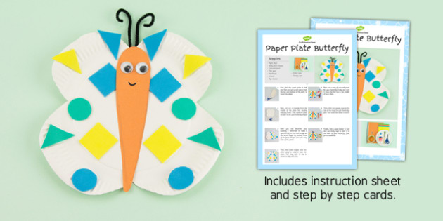 Paper Plate Butterfly Craft Instructions - paper, plate, craft