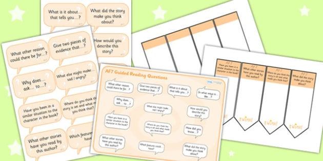 AF7 Guided Reading Resource Pack - AF7, guided reading, reading