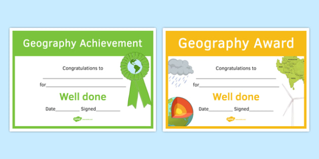 Geography Awards Resource Pack