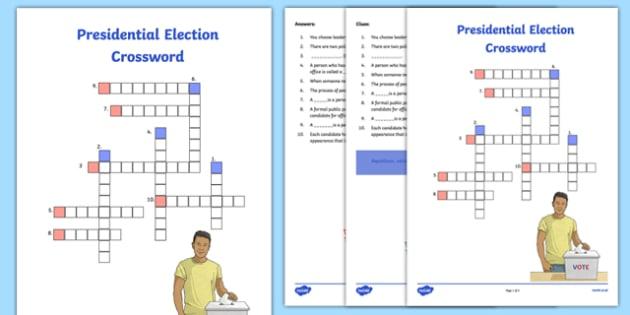 Presidential Election Crossword