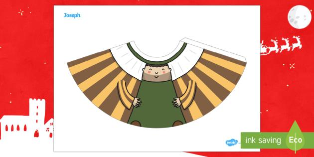Joseph Nativity Cone Character - 3D paper craft, cone, cone character, elves, Christmas, Nativity, Mary and Joseph, Advent