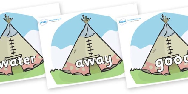 Next 200 Common Words on Tipis - Next 200 Common Words on  - DfES Letters and Sounds, Letters and Sounds, Letters and sounds words, Common words, 200 common words