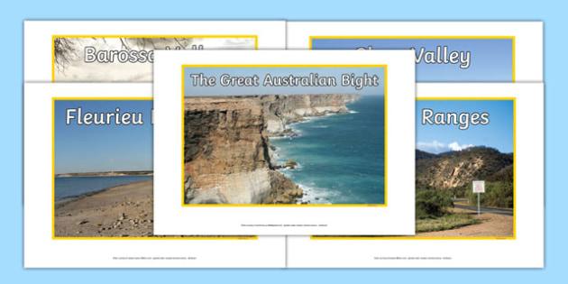 South Australia Natural Features Photo Pack - australia, rivers, lakes, mountains, natural, tourist attraction, landscape, landmark