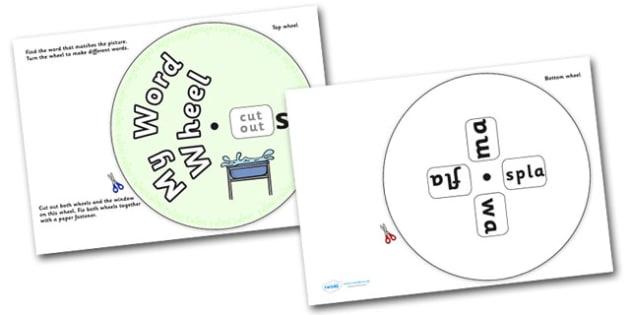 Phonics Digraph Word Wheel (sh) - Phonics, Digraph, word wheel, sh, DfES Letters and Sounds, Letters and Sounds