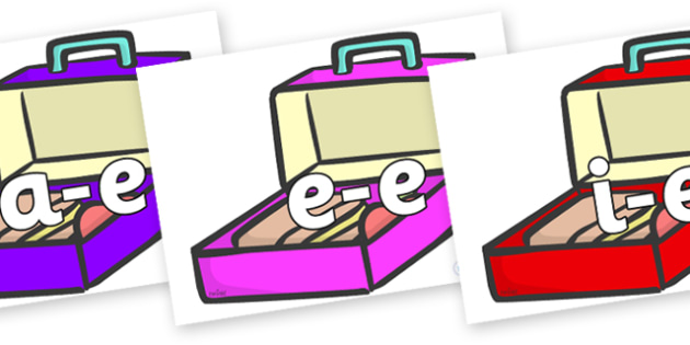 Modifying E Letters on Lunch Boxes - Modifying E, letters, modify, Phase 5, Phase five, alternative spellings for phonemes, DfES letters and Sounds