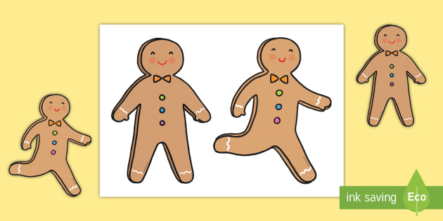 The Gingerbread Man Cut-Outs - The Gingerbread Man, Traditional Tales, small world, puppet, character,