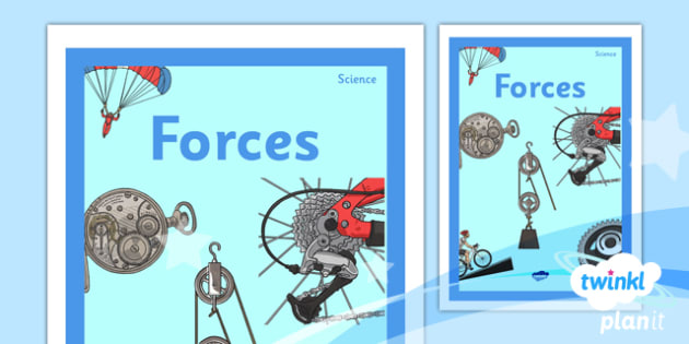 Book Cover Template Twinkl : Science forces year unit book cover