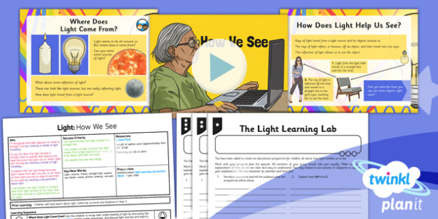 Science: Light: How We See Year 6 Lesson Pack 1