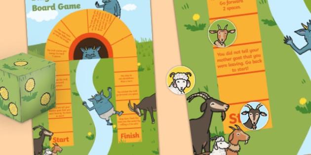Billy Goats Gruff Board Game - billy goats gruff, board game