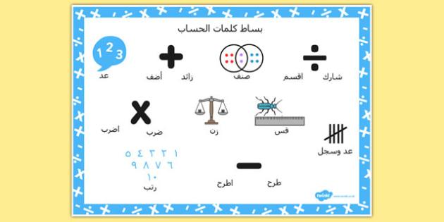بساط كلمات عن تعليمات حسابية - حساب، الحساب، تعليمات رياضيات