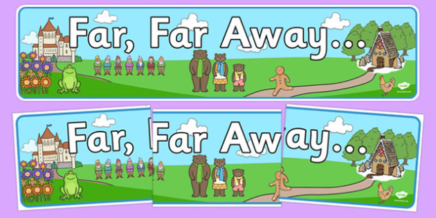 Far Far Away Display Banner - far far away, display banner, display, banner, traditional tales
