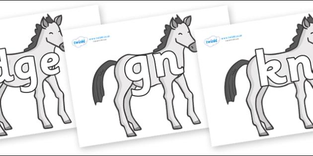 Silent Letters on Ponies - Silent Letters, silent letter, letter blend, consonant, consonants, digraph, trigraph, A-Z letters, literacy, alphabet, letters, alternative sounds