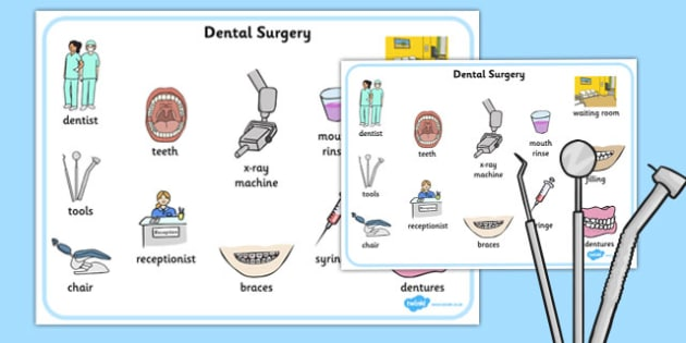 Dentist Surgery Word Mat - dentist, surgery, word mat, word, mat