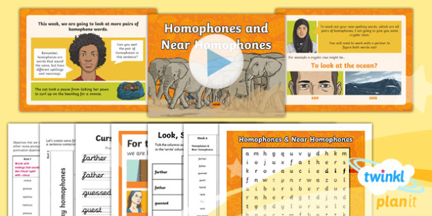 PlanIt Y5 Term 1A W6: Homophones and Near Homophones Spelling Pack