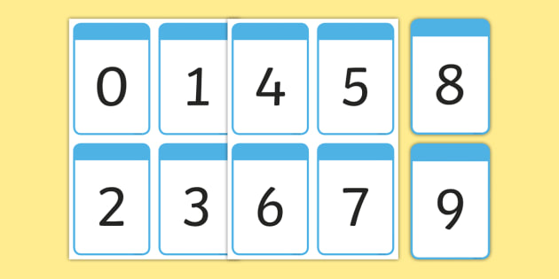 Number Digit Cards 0-9 (teacher made)